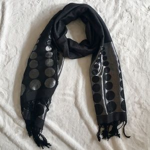 Accessories - Black and Silver Scarf